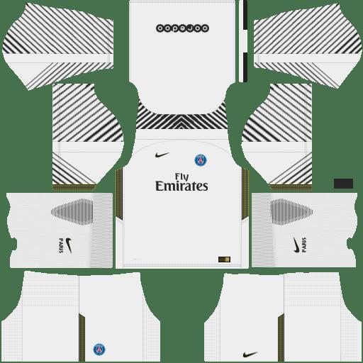 Kit PSG dls18 home Gk - uniforme goleiro casa 17-18
