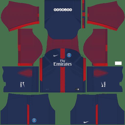 Kit PSG dls18 home - uniforme casa 17-18