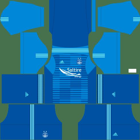 Kit aberdeen dls away Gk uniforme goleiro fora de casa-18-19