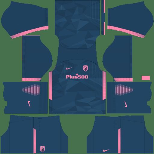Kit atletico madrid DLS 20 third - terceiro uniforme 17-18