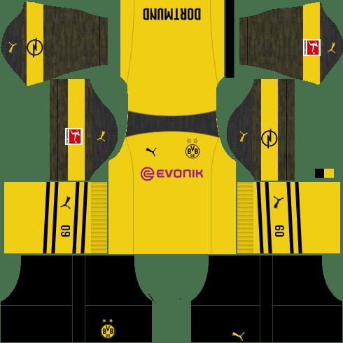 Kit-borussia-dortmund-dls-Home-uniforme-casa-18-19