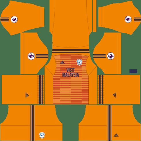 Kit-cardiff-city-dls-away-Gk-uniforme-Goleiro-fora-de-casa-18-19