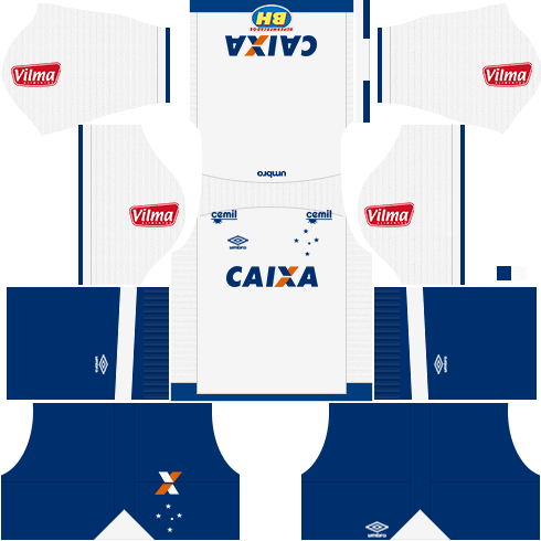 Kit cruzeiro away - uniforme fora de casa 17-18