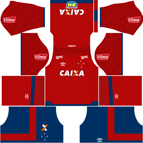 Kit cruzeiro home GK - uniforme goleiro casa 17-18