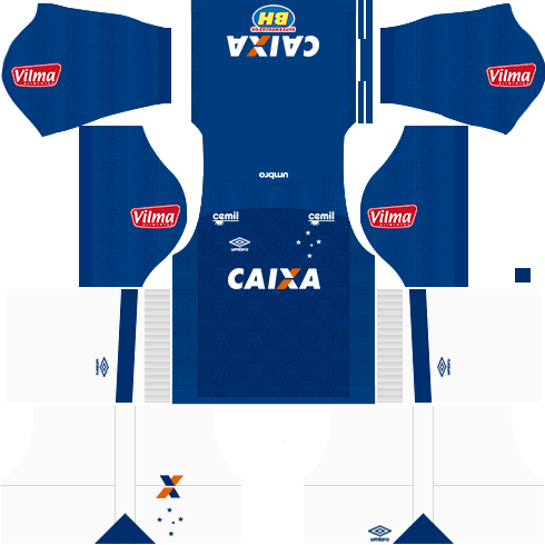 Kit cruzeiro home - uniforme casa 17-18