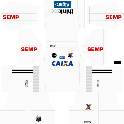 Kit santos dls17 away - uniforme fora de casa 17-18
