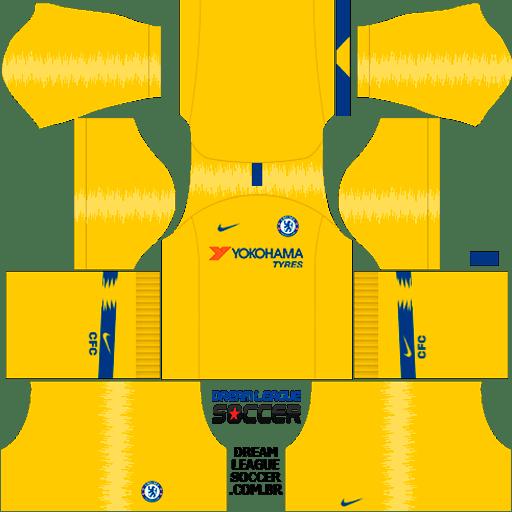 kit-chelsea-dls-away-uniforme-fora-de-casa-18-19