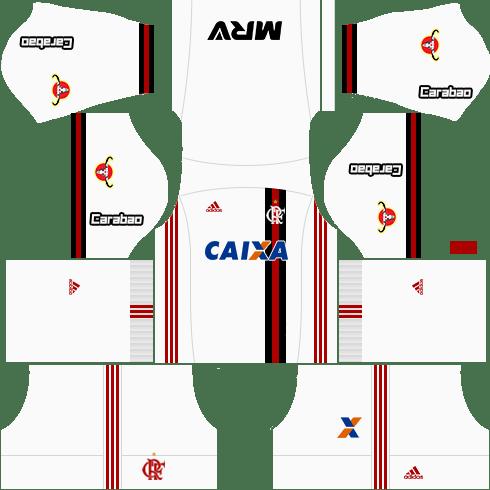 kit flamengo dls17 uniforme fora de casa 17-18
