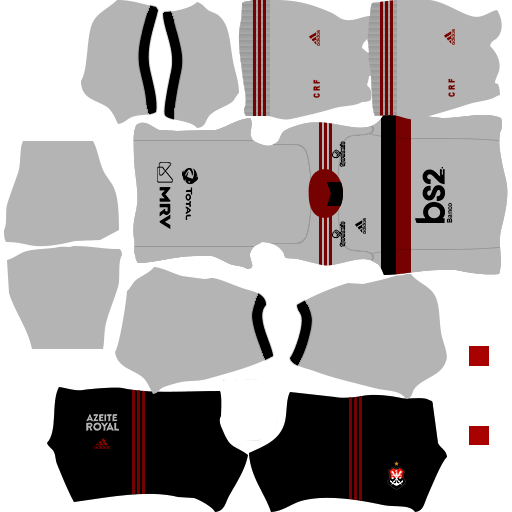 kit flamengo dls20 away uniforme fora de casa 19-20