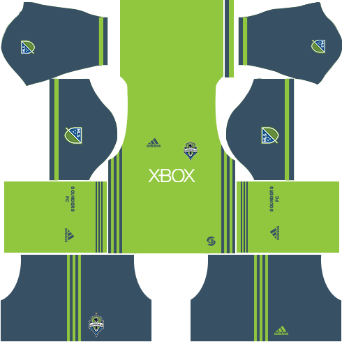 Seattle Sounders FC Home Kits DLS 2018
