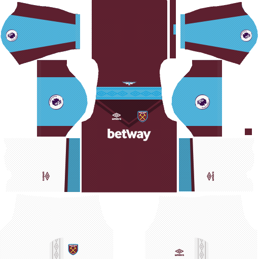 West Ham United Home Kits DLS 2018