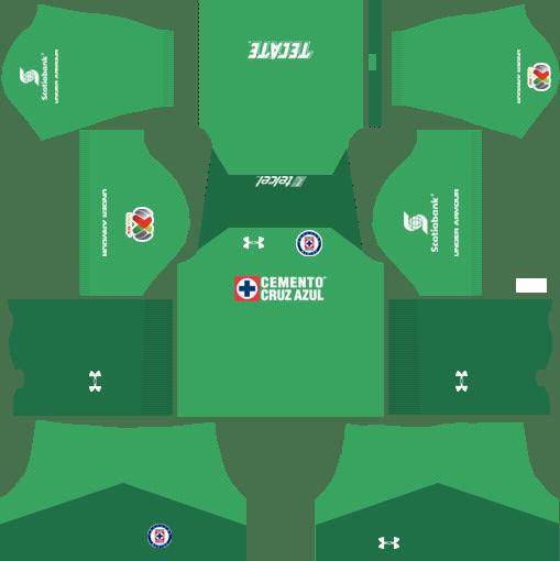 Cruz Azul Goalkeeper Home Kits DLS 2018