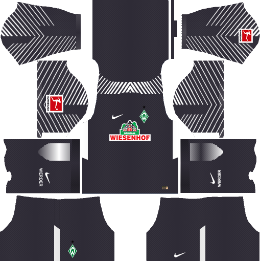 SV Werder Bremen Goalkeeper Third Kits DLS 2018