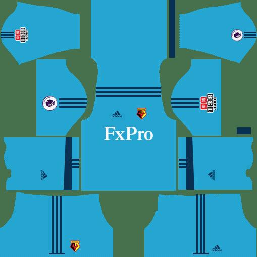 Watford F.C. Goalkeeper Home Kits DLS 2018