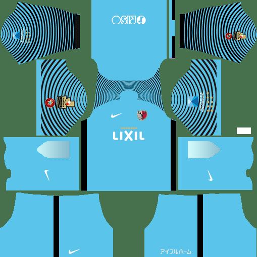 Kashima Antlers Goalkeeper Home Kits DLS 2018