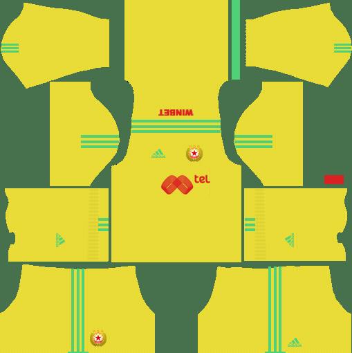 CSKA Sofia Goalkeeper Home Kits DLS 2018