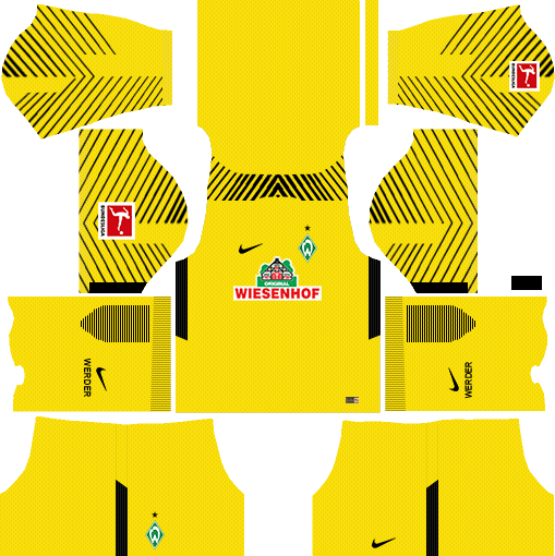 SV Werder Bremen Goalkeeper Home Kits DLS 2018