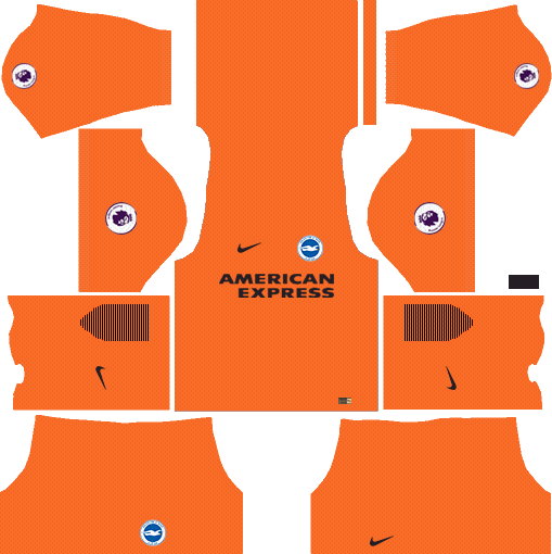 Brighton & Hove Albion F.C. Goalkeeper Home Kits DLS 2018