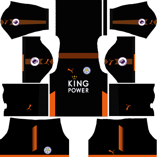 Leicester City Goalkeeper Home Kits DLS 2018