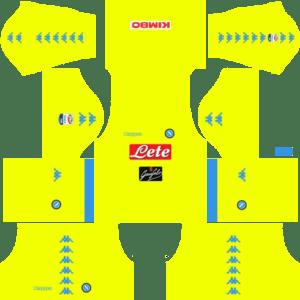 Napoli Goalkeeper Away Kits DLS 2018