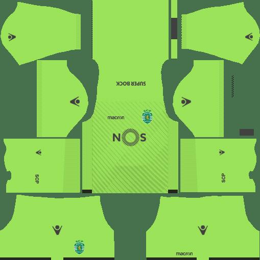 Sporting CP Goalkeeper Away Kits DLS 2018