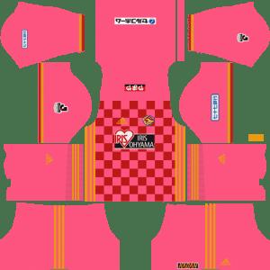 Vegalta Sendai Goalkeeper Home Kits DLS 2018