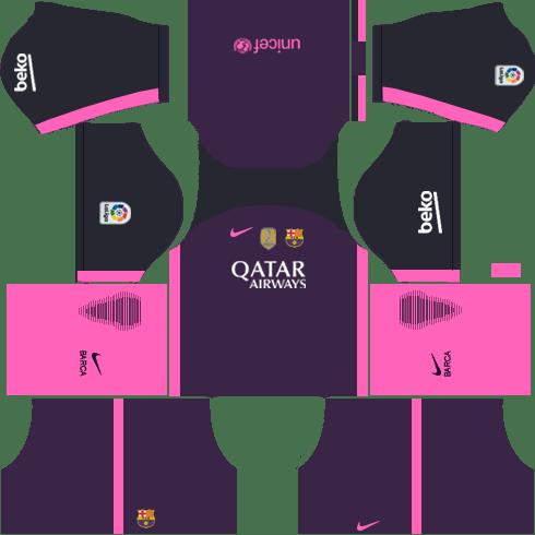 Barcelona Away Kit DLS 2018