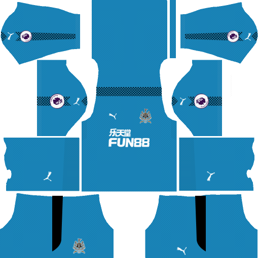 Newcastle United F.C. Goalkeeper Home Kits DLS 2018