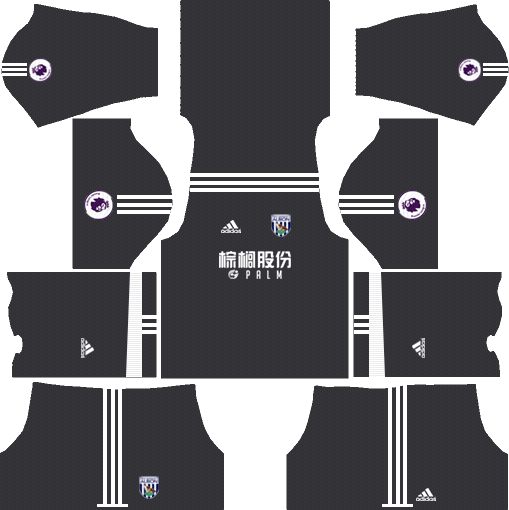 West Bromwich Albion F.C. Goalkeeper Away Kits DLS 2018
