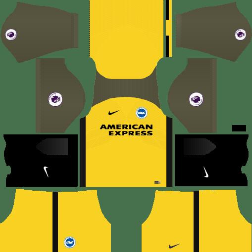 Brighton & Hove Albion F.C. Away Kits DLS 2018