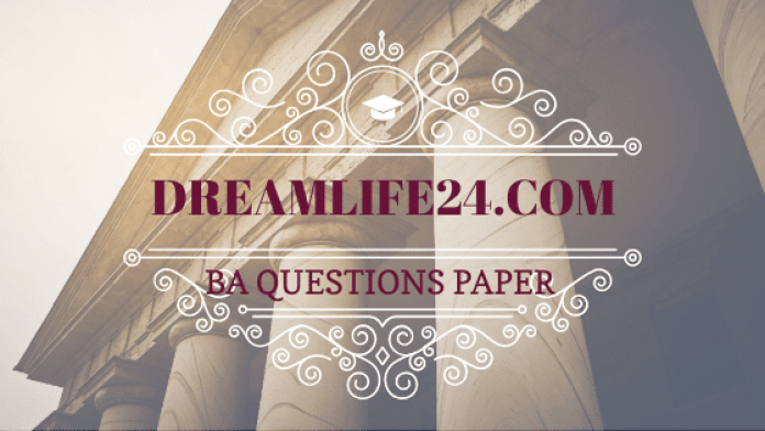 ba 2nd year history question paper 2020
