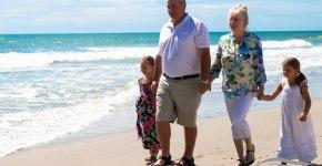 Williams family on the beach