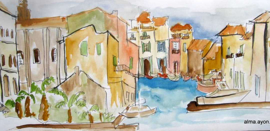 Watercolors from the Mediterranean