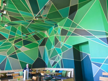 Cafe with amazing green design