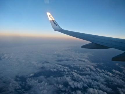 Ryan Air taking us to UK