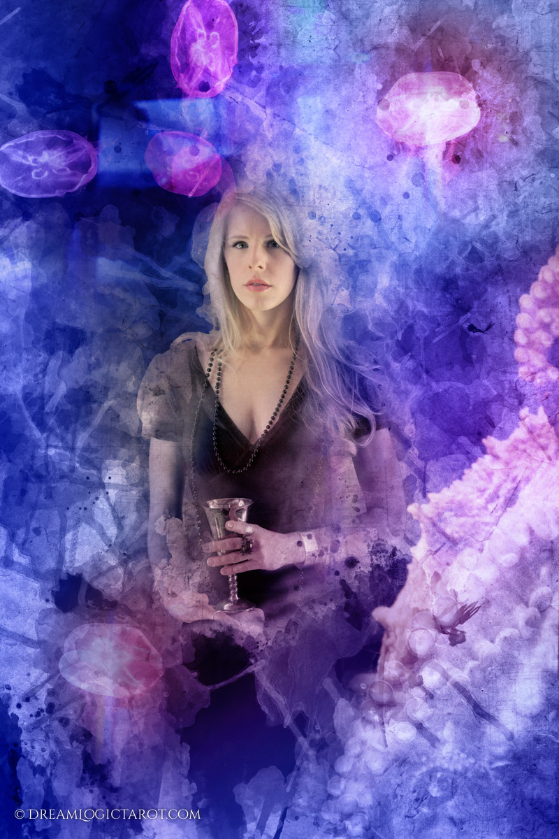 Queen of Cups - Dream Logic Tarot - Minor Arcana