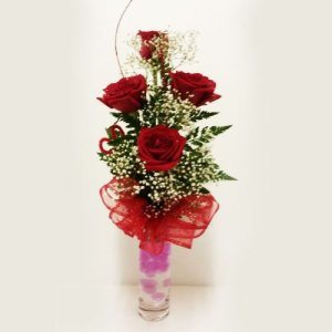 Dream Makers Florist Barbados Four Roses in a Vase