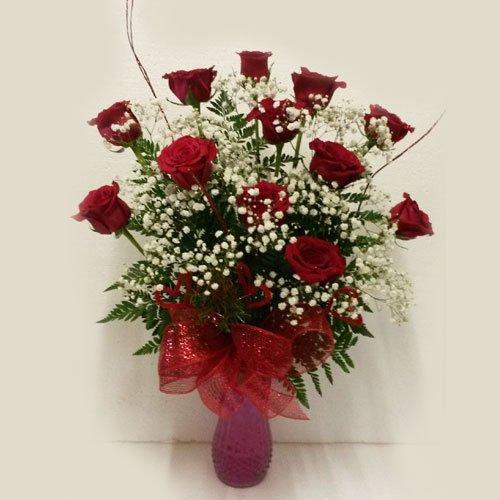 Dream Makers Florist Barbados Twelve Red Roses