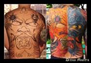 Svetlyo , Custom Japanese mask back peace tattoo