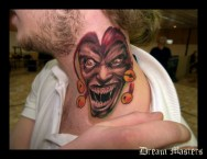 Svetlyo , Custom fantasy realistic colour clown tattoo
