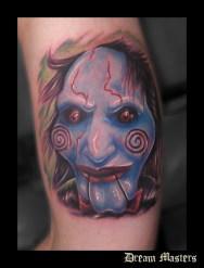 Svetlyo , Custom fantasy realistic Saw tattoo