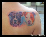 Svetlyo , Custom colour realistic dog tattoo