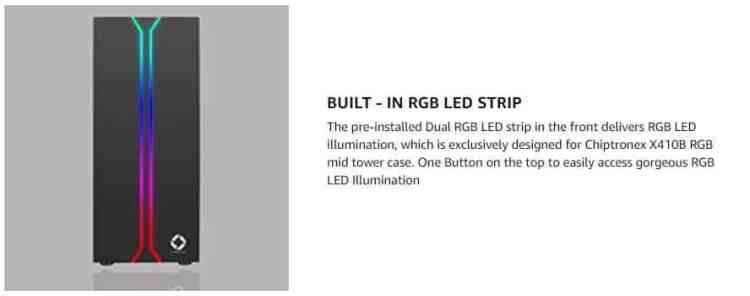 X410B Built-in RGB LED STRIP