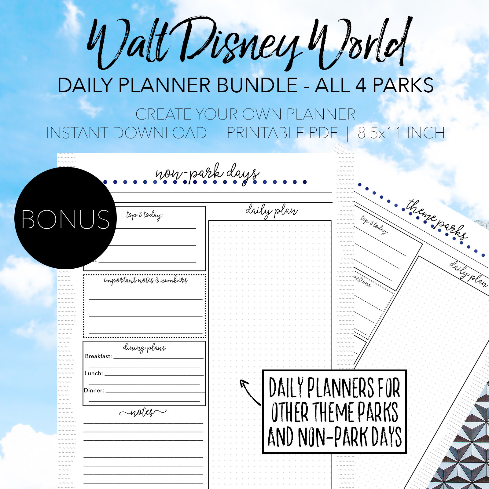 Walt Disney World Dining Planner