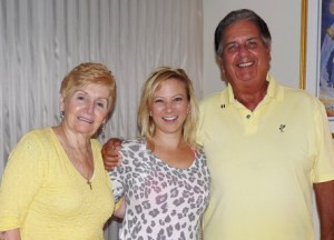 From left, Ann Arciere, Amy B. Perrault, and Joe Arciere, Sr.