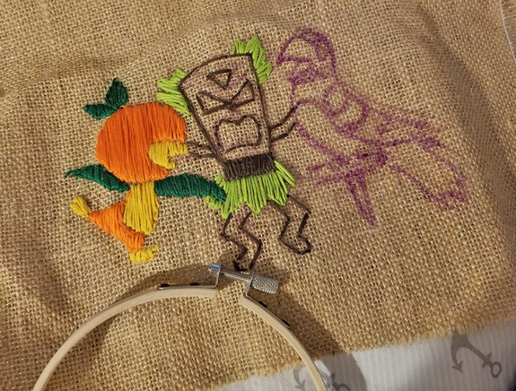 Disney Tiki Room Embroidery