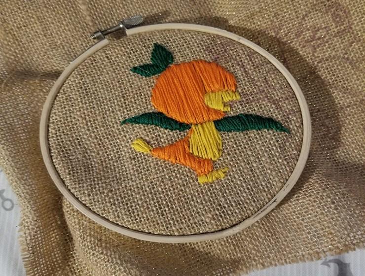 Disney Orange Bird Embroidery