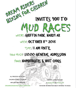 Join Chapter I as they host a fun day of MUD and TRUCKS @ Griffin Park, Hardy AR