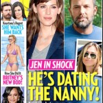 Magazine headline: He's dating the nanny