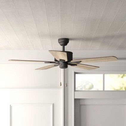 39 blade standard ceiling fan with pull chain and light kit included joss & main 26